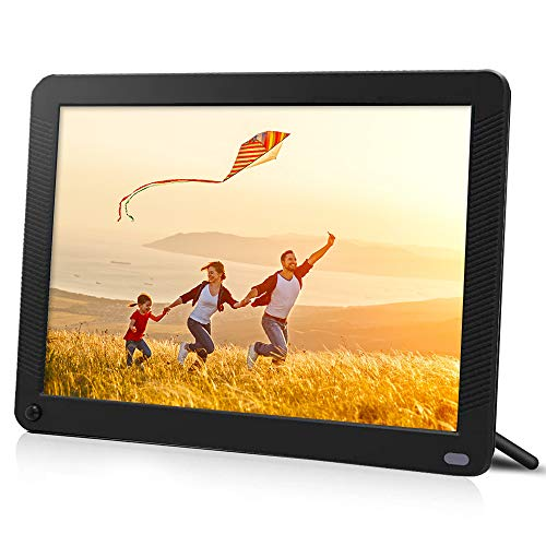 toberto Smart Digital Photo Frame with 1920x1080 IPS Screen, Digital Picture Frame Support Adjustable Brightness Photo Deletion 1080P Video Picture Frames16:9 Widescreen(10 inch)