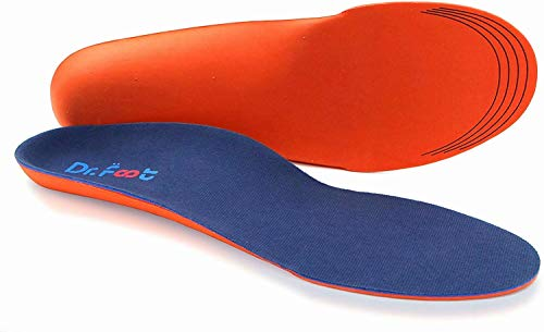 Dr. Foot's Orthotics Insoles for Flat Feet - Arch Support Shoe Inserts for Plantar Fasciitis,...
