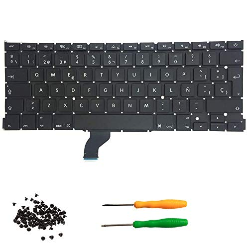 THE TECH DOCTOR Replacement Internal Keyboard Spanish ESP SPAIN Layout for Apple MacBook Pro Retina A1502 13' 2013-2015 Model