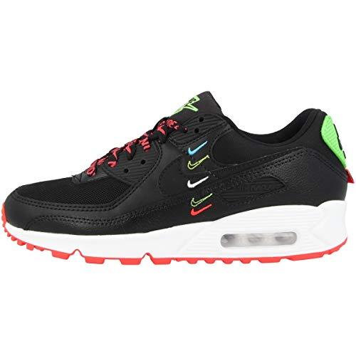 Nike Zapatillas para mujer Low Air Max 90 Worldwide, color Negro, talla 39 EU