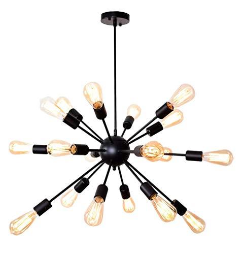 Lingkai 18 luci Sputnik Lampada a sospensione a pendolo illuminazione a soffitto Lampadario Industriale Vintage Plafoniere in metallo (nessuna lampadina)