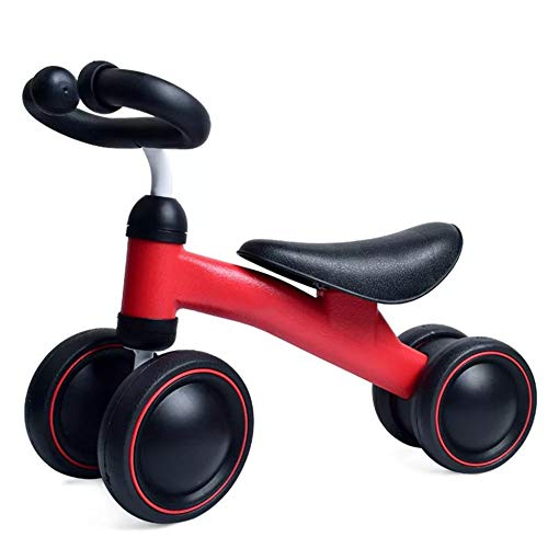 HAHABABY My Bike Junior Correpasillos First Bike Bicicleta sin Pedales con Sillín Regulable Infantil Bicicleta de Equilibrio,Red