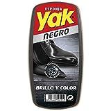 YAK esponja para calzado brillo inmediato color negro especial piel 1 ud