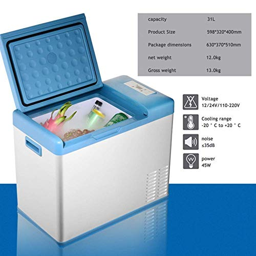 TUNBG draagbare compressor koelkast vrieskast dual voltage auto koelbox vrachtwagen 24 V / 12 V / 220-240 V (31 L) reizen en kamperen