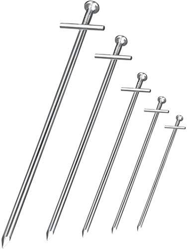 Balinco 30x Anti-ROST Zeltheringe Ø 6 mm, Länge 230 mm - T-Profil | Heringe | Erdnägel | Bodenanker aus verzinktem Stahl zur Befestigung & Fixierung beim Camping (30)