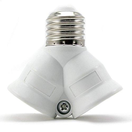 HuntGold Applied 2 in 1 E27 Converter Socket Adapter Studio Photo Lamp Bulb Base Holder