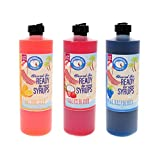 Hawaiian Shaved Ice or Snow Cone Syrups, 3 Pack, Pints, Multiple Flavors, 16 Fl. Oz each (Blue Raspberry, Tiger's Blood, Dreamcicle)