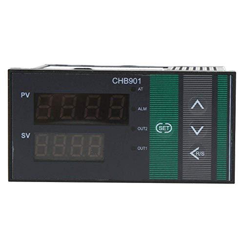 GNLIAN HUAHUA Cicly Timer Relay Controlador CHB901 Temperatura, termostato Inteligente de Pantalla Digital de Temperatura Controlador de relé/SSR AC180-240V Salida 0-400  Tablero Industrial