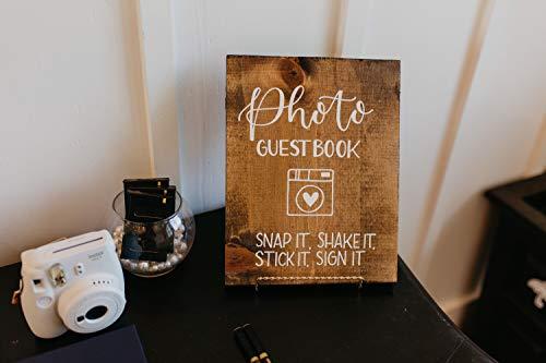unknow Foto libro de visitas Polaroid libro de visitas por favor firmar nuestro libro de visitas de boda cartel de boda cartel de nuestro libro de visitas signo de madera rústica