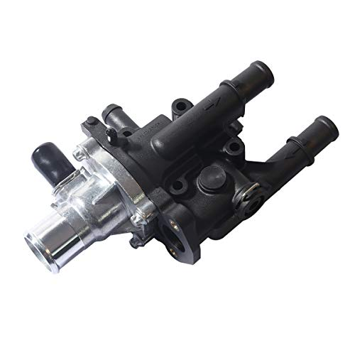 SEEU.AGAIN Engine Coolant Thermostat Housing Assembly Compatible with 2009-2011 Aveo / Aveo5 2009 G3 1.6L (Replace # 25189437 96984102 96980317 15-81766 25192228)