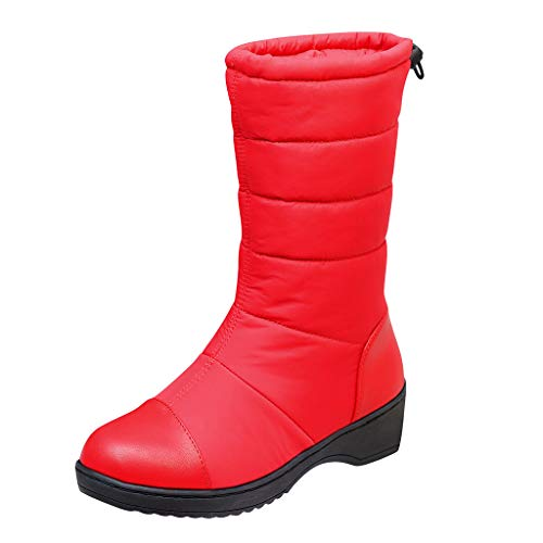 New Ros1ock Womens Boots Solid Color Nylon Snow Boots Waterproof Footwear Warm Winter Shoes Flat Sho...