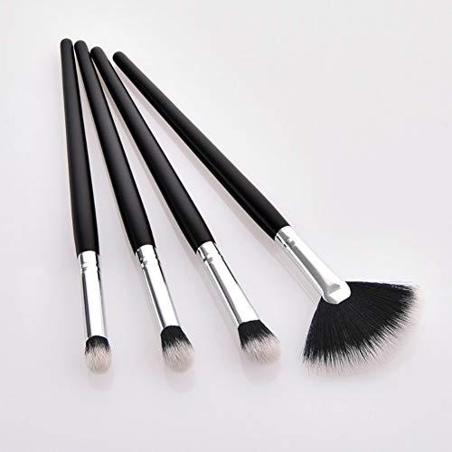 KDBHM Pinceau de Maquillage 4pcs Maquillage pinceaux Fard à paupières Professionnel mélange Pinceau Usine de Maquillage cosmétique Brosse Set de Poudre,4pcs Shy
