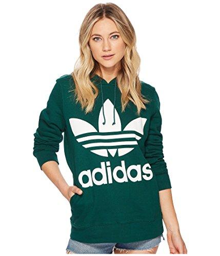 adidas Originals Trefoil Hoodie Sudadera con Capucha, Verde Universitario, XS para Mujer