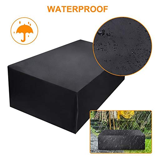 GFSD Outdoor Garden Patio Furniture Cover Waterproof Dustproof Outdoor Garden Chair Table Hot Tub SPA Protector Cover, 32 Size (Color : Black, Size : 205×104×71cm)