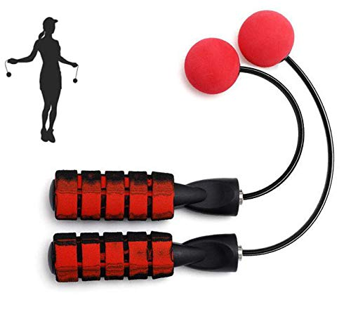 Indoor Cordless Jump Rope Weighted Ropeless Jump Rope With Double Handles-Long or Short Adjustable Bod Ropes for Indoor Exercise, Crossfit Speed Training, Fitness Workout, Boxing-Updated Longer Rope Version
