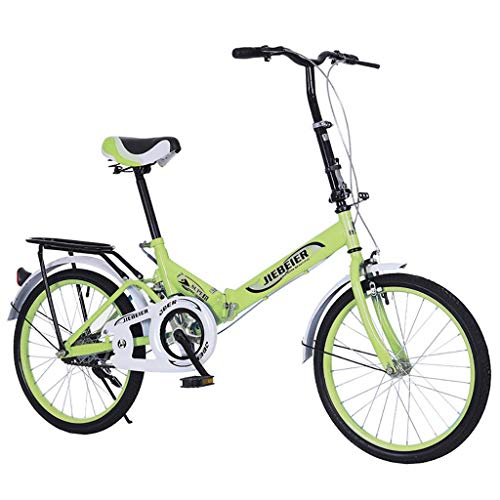 Folding Bike for Adults Men and Women 7 Speed Lightweight Mini Folding Bike with V Brake (with Rear Rack)