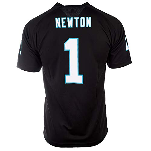 OuterStuff Cam Newton Carolina Panthers #1 NFL Jugend Performance Player Trikot, Schwarz (Jugendliche 8-20), schwarz, Youth X-Large 18/20