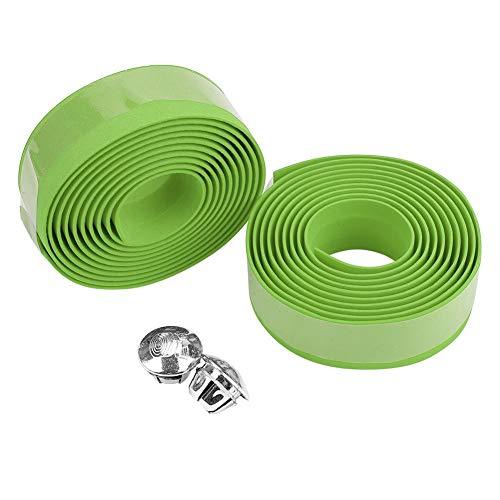 自転車 ハンドルバーテープ グリップテープ EVA 通気性 滑り止め 取り付け簡単 快適 自転車装飾 多色選択可 (グリーン)