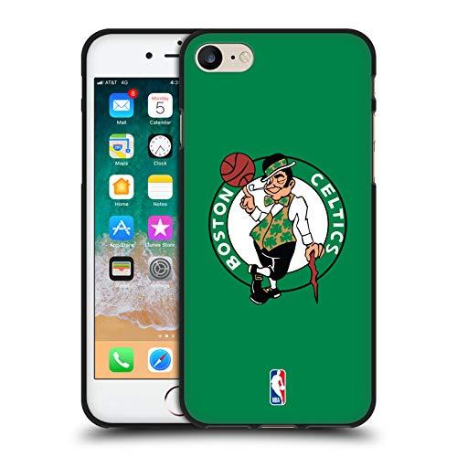 Head Case Designs Ufficiale NBA Semplice Boston Celtics Cover Nera in Morbido Gel Compatibile con Apple iPhone 7 / iPhone 8 / iPhone SE 2020