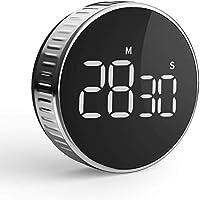 hommini timer da cucina cronometro o conto alla rovescia digitale timer per cottura classe studio allenarsi magnetico countdown contaminuti egg timer kitchen timer display lcd, knob twist design