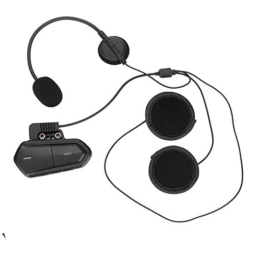 Auriculares Bluetooth del casco de la motocicleta, Auriculares de radio estéreo de moto inalámbrica FM con batería de gran capacidad, amplificador de audio de alta potencia, 0 horas de trabajo mei