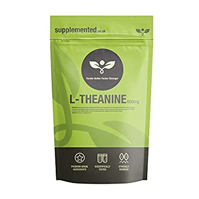 L-Theanine 400mg Supplement 90 Capsules UK Made. Pharmaceutical Grade