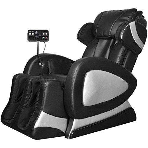 vidaXL Poltrona Elettrica Massaggiante Massaggio Schermo Comandi Similpelle Nera