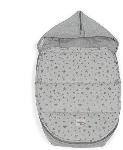 Walking Mum. Saco Grupo 0 Inspiration. Funda de bebé para dormir. Uso universal, compatible con la mayoría de portabebés y cucos. Color Gris. Medidas 40 x 80 cm.