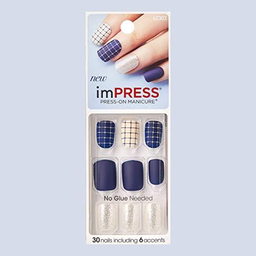 "KISS imPRESS""BELLS & WHISTLES"" Short Press-On Color Nails"