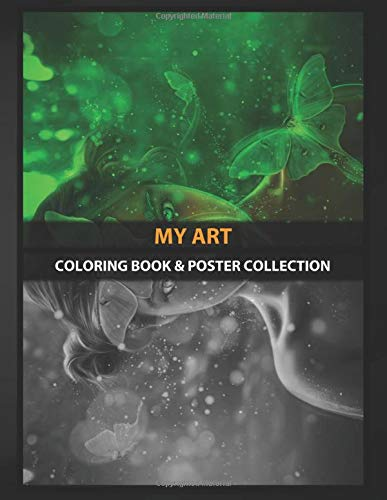 Coloring Book & Poster Collection: My Art Luna Fairy Fantasy