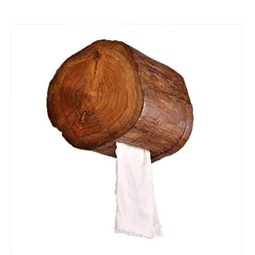 YUQIYU Tailandesa hecha a mano de madera sólida Porta papel Papel higiénico titular de papel higiénico Box