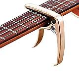 Capodastre universel en alliage de zinc pour guitare électrique classique, version polyvalente du capo, basse, ukulélé, capodastre à une main (or rose)