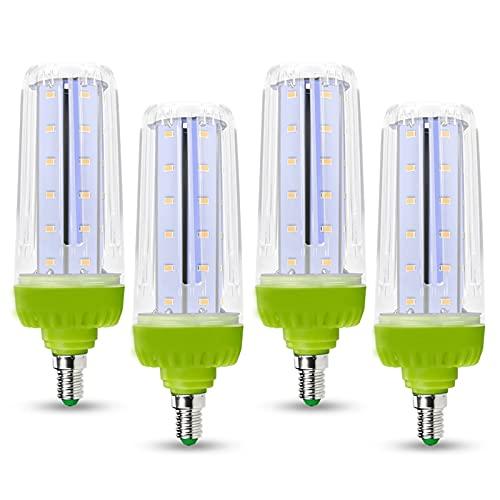 JZlamp E14 Luz LED 10W Lámpara de maíz 15W E27 Bombilla LED 20W Lámpara LED 220V 110V Bombilla de luz de Alta Potencia Ahorro de energía (4pcs),Blanco,E27 10W