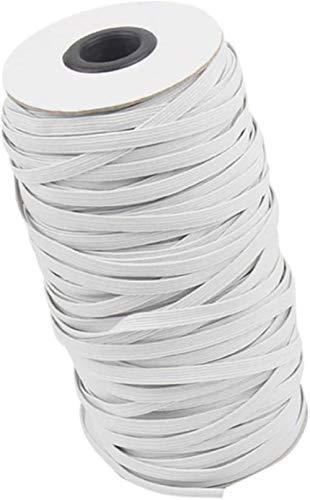 Elastische strips constructie, elastisch koord kabelschepen zeer elastische gebreide stof voor het naaien, boten sprei,wit,180m