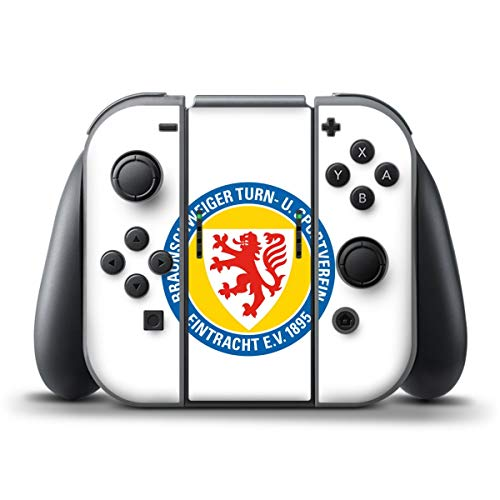 DeinDesign Skin kompatibel mit Nintendo Switch Controller Folie Sticker Offizielles Lizenzprodukt Eintracht Braunschweig Wappen