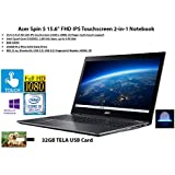 """2020 Newest Acer Spin 5 15.6"""" FHD IPS Touchscreen 2-in-1 Notebook, Intel Quad-Core i5-8250U, 8GB DDR4, 256GB SSD, Fingerprint Reader, Windows 10 Pro 