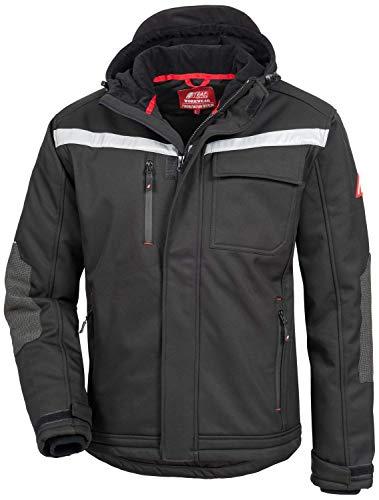 Nitras Motion Tex Plus 7180W Softshell-Jacke für die Arbeit - Schwarz - L