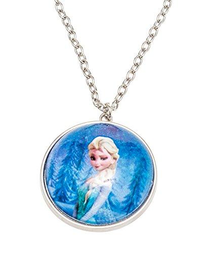 Disney 755702–Frozen Collana con mezza palla di neve diametro 3.5cm come ciondolo e ELSA Motiv in confezione regalo 8x 2.5x 13cm
