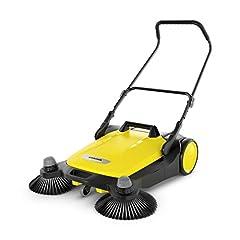 Kärcher sweeper S 6 Twin (max. oppervlaktecapaciteit: 2500 m2/h, zijzwaai, veegmachine: 38 l, werkbreedte: 860 mm, ergonomische duwbalk, zelfstaande veegcontainer)*