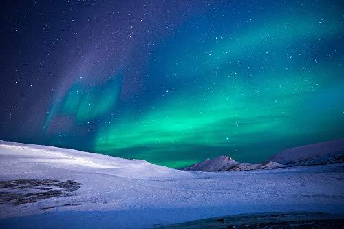 OKOUNOKO Puzzles De 1000 Piezas para Adultos, Aurora Boreal Artica ,Montaje De Madera ,Decoración para El Juego De Juguetes para El Hogar Ran Regalo Educativo para Niños