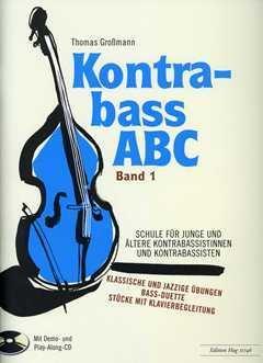 Contrabass ABC 1 - gearrangeerd voor contrabass - piano - met 2 CD connectoren [Noten / Sheetmusic] Componis: Grossmann Thomas