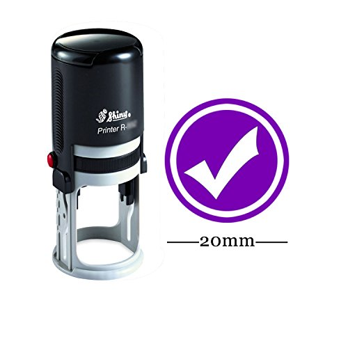 Round Self Inking Kids Teacher Stamp Right & Check Personalized Custom Shiny 20mm Mini Rubber Stamp