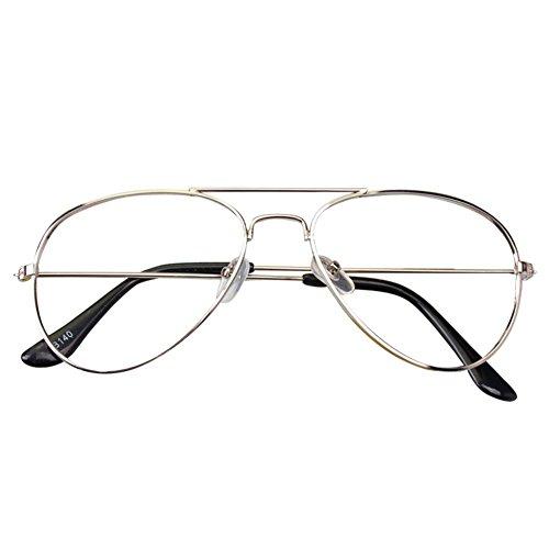 Hibote Aviador Gafas para niños - Gafas de lentes transparentes marco Geek/Nerd gafas con forma de coche gafas caso