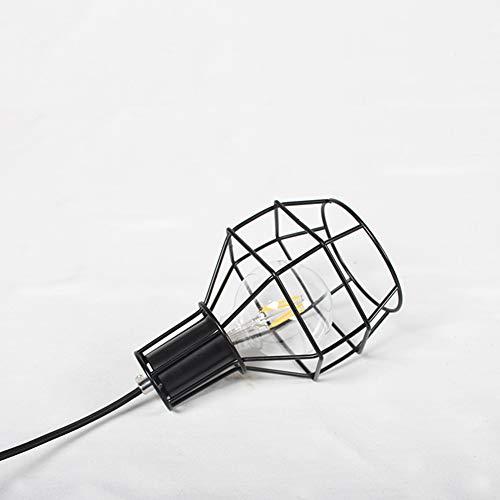 OMKMNOE Tischlampe, Flammige Vintage Tischleuchte Im Retro Look Nachttischlampe Stahl Schwarz Fassung,Schwarz