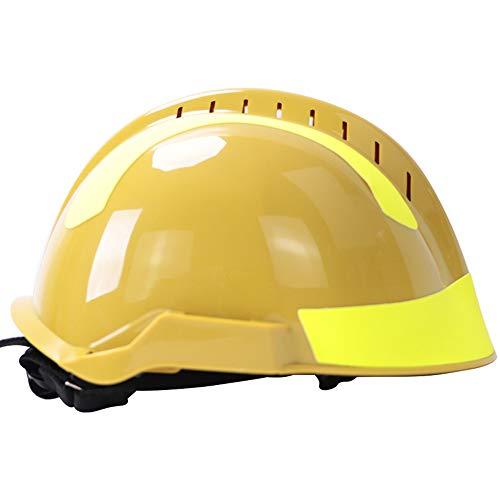 Casco protector de rescate al aire libre, Casco de emergencia con gafas protectoras y linterna fuerte, Para rescate por terremoto anticolisión de emergencia casco protector contra incendios ZDDAB ⭐