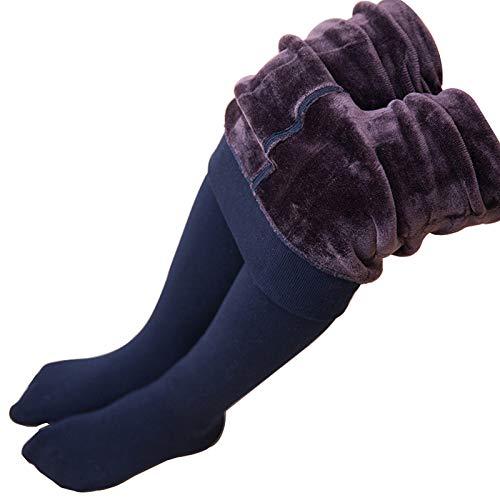 KVbaby Mädchen Winter Thermo Strumpfhose Dicke Warme Einfarbig Leggins Elastische Hosen Plüsch Futter Jeggings
