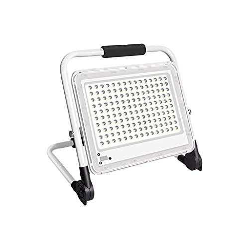 Proyectores LED de 400 vatios para exteriores, luces de seguridad IP67 a prueba de agua Luz de trabajo, reflector plegable recargable blanco, reflector superbrillante para acampar en sitios de ingen