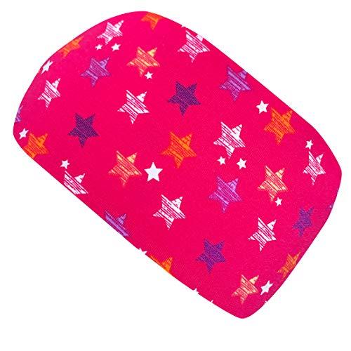 Wollhuhn ÖKO Damen/Mädchen Süßes elastisches DRAGON STARS Haarband/Stirnband pink/rosa 20190008