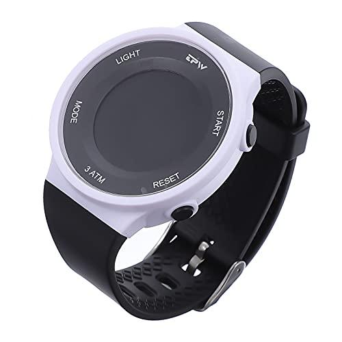 Abaodam Reloj deportivo digital impermeable, multifuncional, reloj de pulsera con alarma, calendario, desmontable, cronómetro eléctrico luminoso, para niñas y niños, color negro y blanco