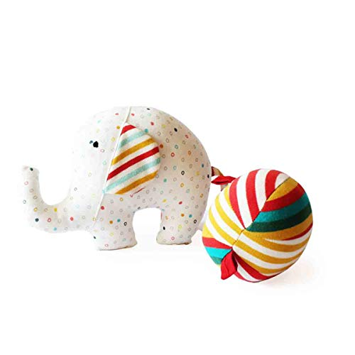 Cheapest Prices! Shumee Elephant and Ball Plush Fabric Toy for Babies (Age 0+) - Textured Developmen...